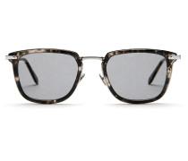 Sonnenbrille in Havannagrau mit grauen Gläsern im Dschungel-Konzept