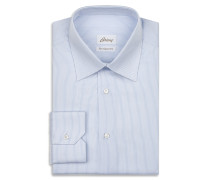 Hemd mit Streifenmuster in Hellblau und Weiß