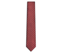Krawatte in Bordeauxrot und Grau