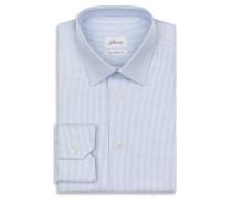 Hemd mit kleinem Muster in Hellblau und Weiß