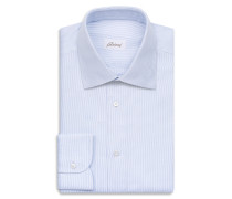 White and Bluette Micro Checked Shirt
