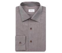 Braunes Slimfit-Hemd