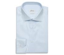 Formelles Hemd in Himmelblau und Weiß mit Streifenmuster