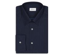 Marineblaues Hemd mit kleinem Punktemuster