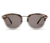 Graubraune Sonnenbrille mit grauen Gläsern
