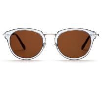 Sonnenbrille in der Farbe Havanna mit braunen Gläsern