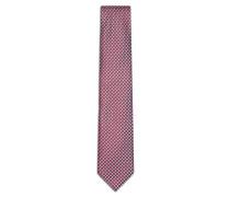 Rote Krawatte mit himmelblauem Muster
