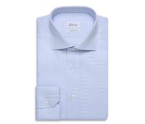 Formelles Hemd in Himmelblau und Weiß