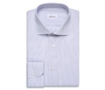 Formelles Hemd in Blau und Weiß mit Micro-Muster