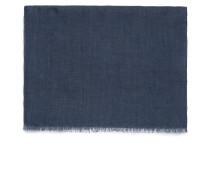 Marineblauer Schal aus Leinen
