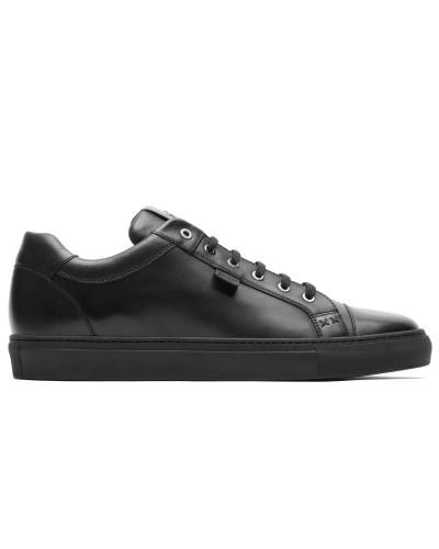Schwarze Sneakers aus Kalbsleder