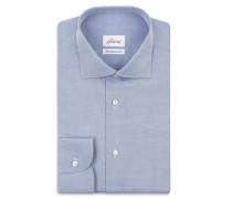 Formelles Hemd aus blauem Twill