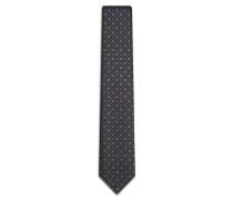 Krawatte in Marineblau und Senfgelb