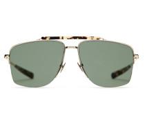 Caravan Sonnenbrille in den Farben Gold und Havanna mit grünen Gläsern