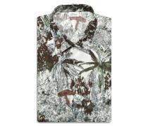 Bedrucktes Hemd mit kurzen Ärmeln