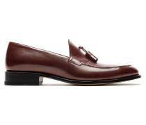 Braune Loafers mit Troddel