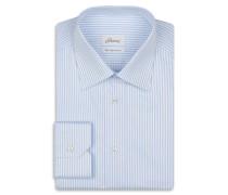 Formelles Hemd mit Streifenmuster in Blau und Weiß