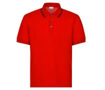 Rotes Poloshirt aus Pikee mit Logo