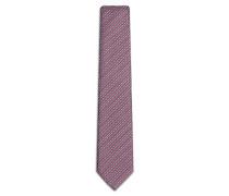 Blaue Krawatte mit kleinem rotem Muster