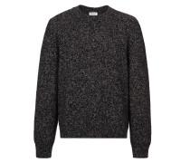 Blaubraun melierter Pullover