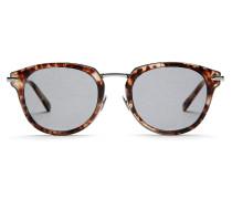 Sonnenbrille in Havannarot mit grauen Gläsern im Dschungel-Konzept