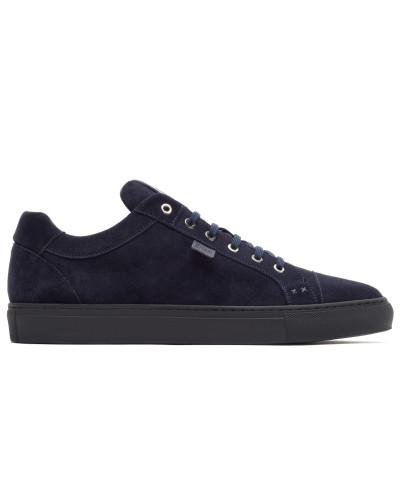 Blaue Sneakers aus Wildleder