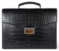 Klassische Aktentasche aus Krokodilleder