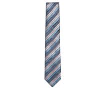 Blaue Krawatte mit Regimentsstreifen
