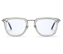 Transparente Sonnenbrille mit hellblauen Gläsern