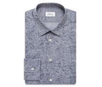 Blaues Hemd mit kleinem Muster