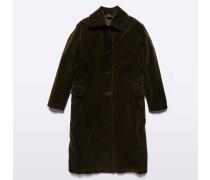 Mantel aus Cordsamt