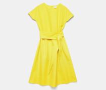 Kleid mit Rundhalsausschnitt aus Popeline
