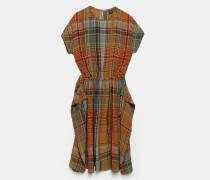 Kleid aus karierter Viskose