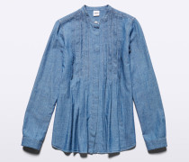Chambray Plissè Basic Hemd