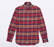 Boyfriend-cut Baumwollflanell Shirt