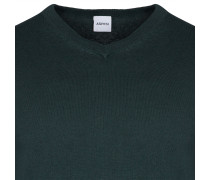 COTTON AND CASHMERE SWEATER WITH V-NECKLINE
