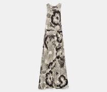 Langes Kleid aus Chinakrepp