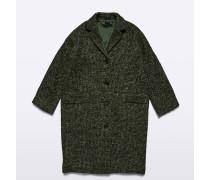 Mantel aus gewebter Alpacawolle