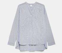 Hemd aus gestreifter Baumwollpopeline