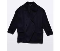 Doppelreihiger Mantel aus Wolle und Cashmere