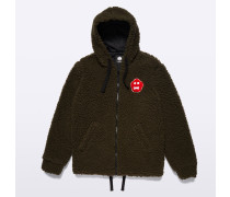 SWEATJACKE MIT PATCH GINGER BREAD