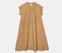 Chemisier-Kleid mit feinem Streifendruck