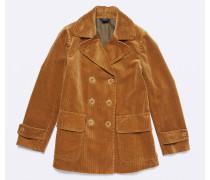Doppelreihige Jacke aus Cordsamt