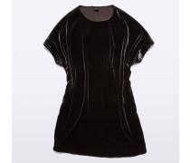 Kurzärmliges Samt-Kleid