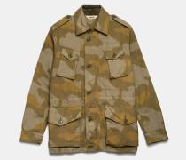 VANCOUVER Mantel aus Canvas mit Camouflage-Print