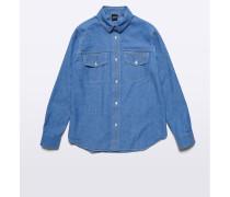 Chambray Baumwoll-Shirt