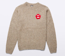 PULLOVER AUS WOLLE MIT PATCH GINGER BREAD