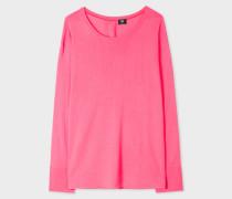 Pink Merino Button-Back Sweater