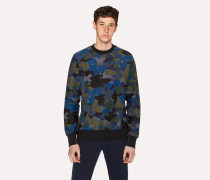 Navy Camouflage Organic-Cotton Sweatshirt