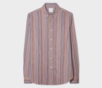 Tailored-Fit Signature Stripe Cotton Shirt